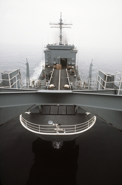 A bow view of the tank landing ship USS FAIRFAX COUNTY (LST 1193) underway during UNITAS XXV, the silver anniversary hemispheric naval exercise involving Brazil, Chile, Colombia, Ecuador, Peru, the United States, Uruguay and Venezuela