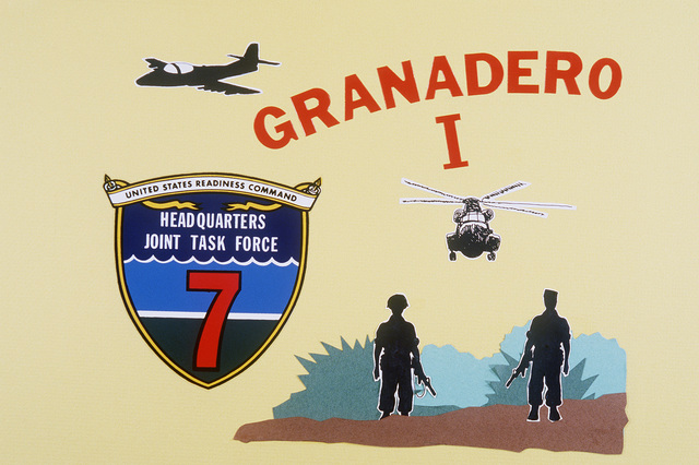 Official emblem of Granadero One, a combined counter insurgency exercise hosted by the government of Honduras and involving military forces from the emblem is the insignia of Joint Task Force Seven (JTF-7), Headquarters US Readiness Command, MacDill Air Force Base, Florida JTF-7 is providing operational command and control for participating US forces