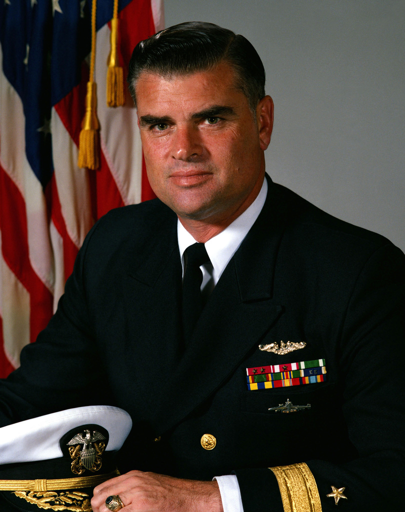 Commodore Roger F. Bacon, USN (uncovered)