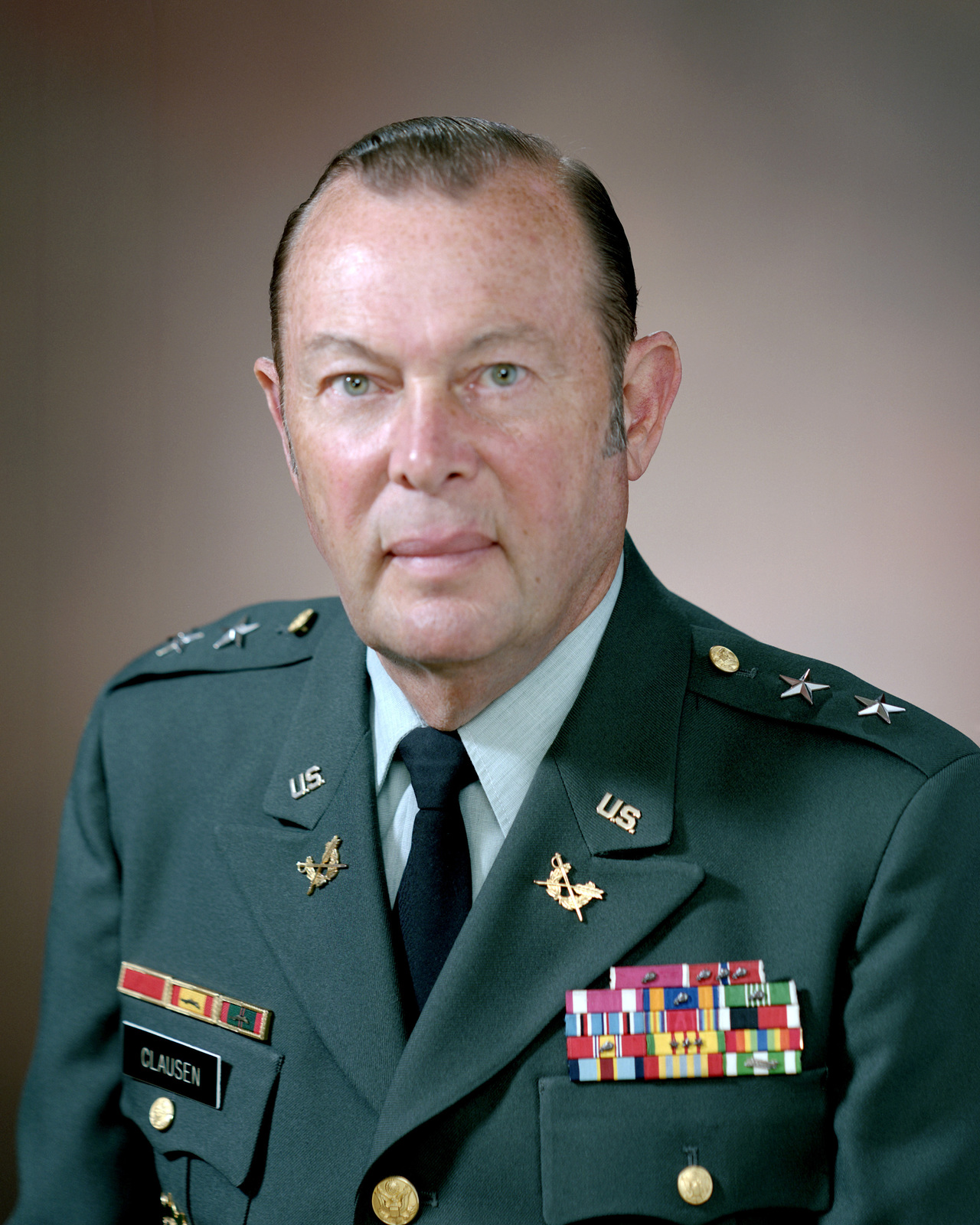 Portrait:  US Army (USA) Major General (MGEN) Hugh J. Clausen (uncovered)