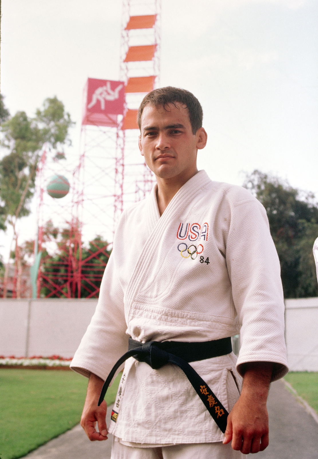 Second Lieutenat Craig J. Agena from Fort Carson, Colorado, a member of the judo team competing at the 1984 Summer Olympics
