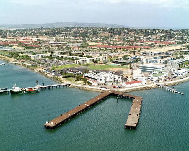 An aerial view of Naval Base, San Diego, California