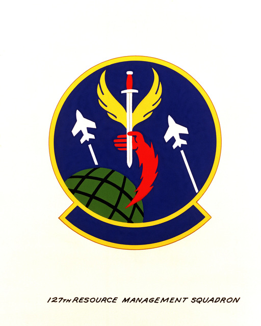 Official emblem for the 127th Resource Management Squadron