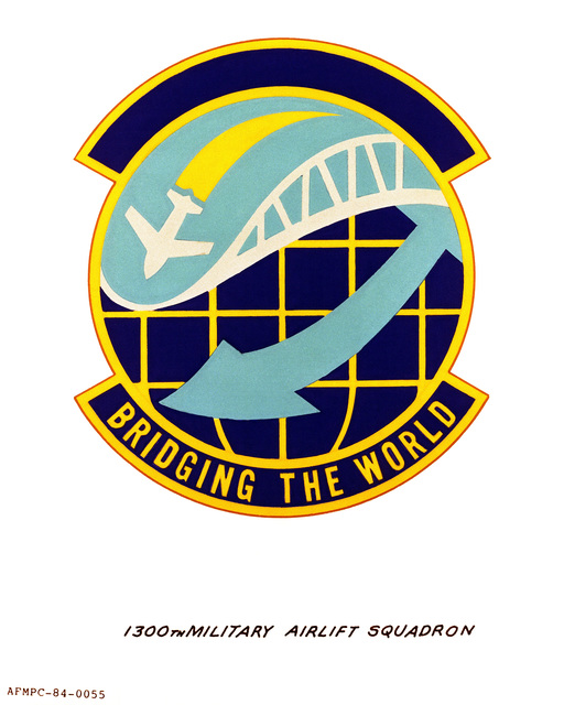 Official emblem for the 1300th Military Airlift Squadron