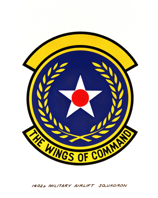 Official emblem for the 1402nd Military Airlift Squadron