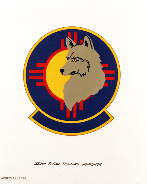 Official emblem for the 1550th Flying Training Squadron