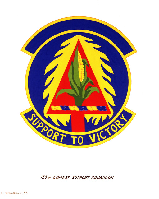 Official emblem for the 155th Combat Support Squadron