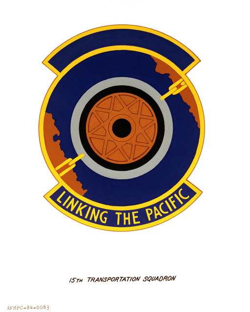 Official emblem for the 15th Transportation Squadron