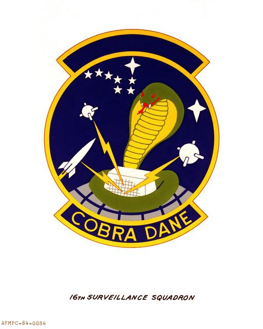 Official emblem for the 16th Surveillance Squadron