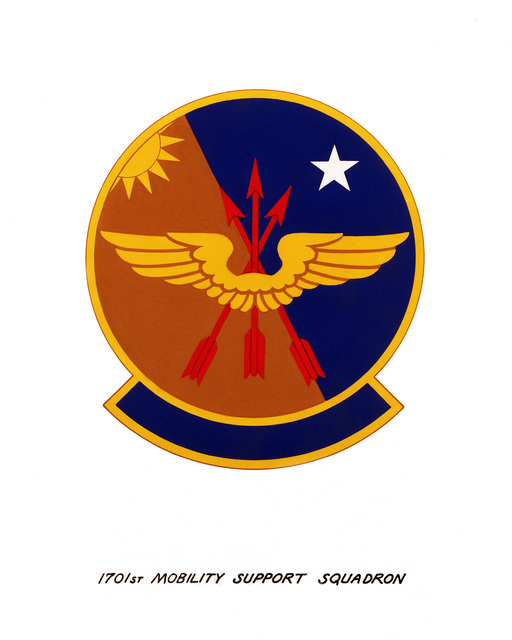 Official emblem for the 1701st Mobility Support Squadron