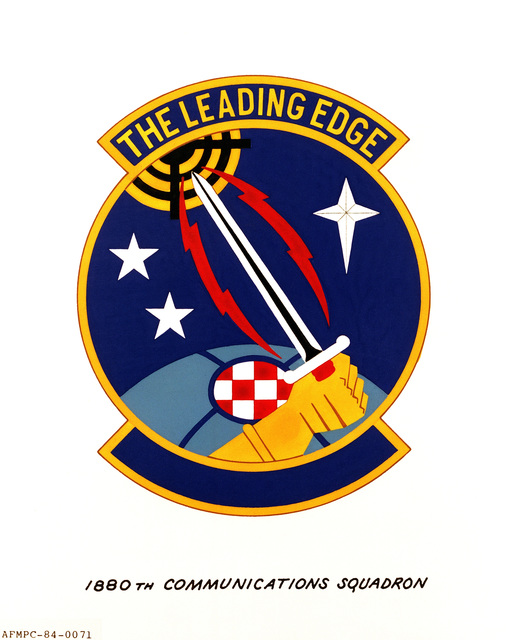 Official emblem for the 1880th Communications Squadron