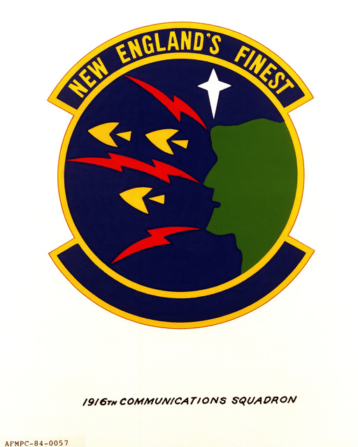Official emblem for the 1916th Communications Squadron