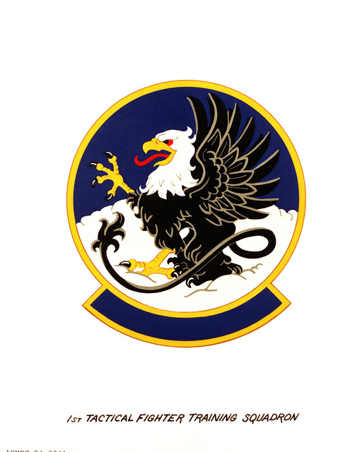 Official emblem for the 1ST Tactical Fighter Training Squadron