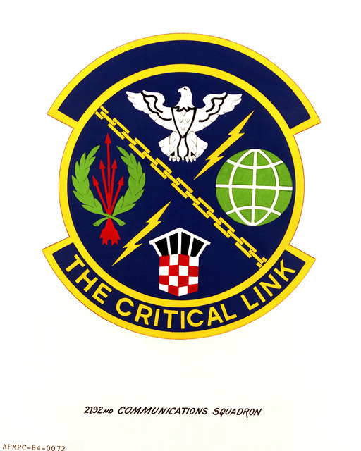 Official emblem for the 2192nd Communications Squadron