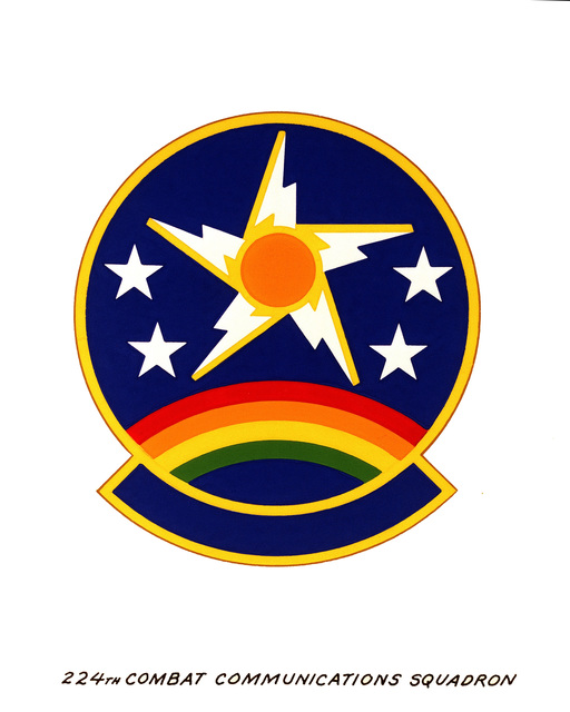Official emblem for the 224th Combat Communications Squadron