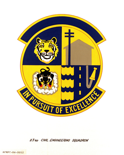 Official emblem for the 23rd Civil Engineering Squadron