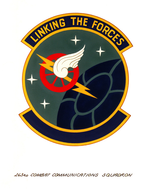 Official emblem for the 263rd Combat Communications Squadron