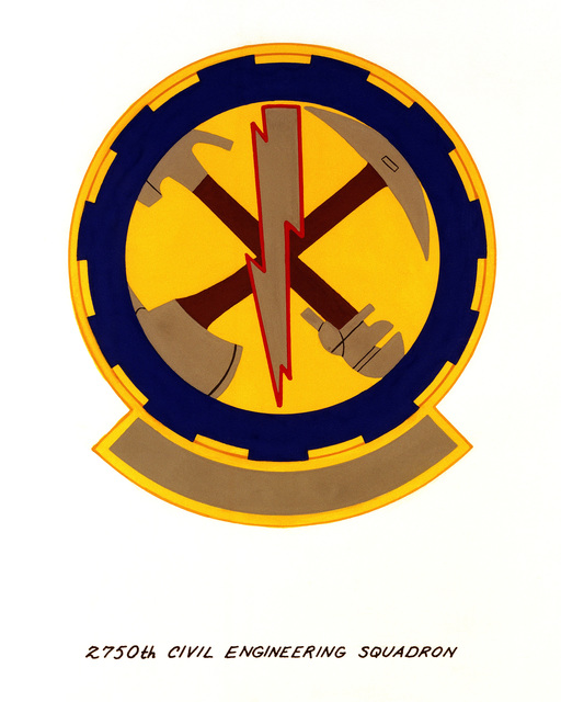 Official emblem for the 2750th Civil Engineering Squadron