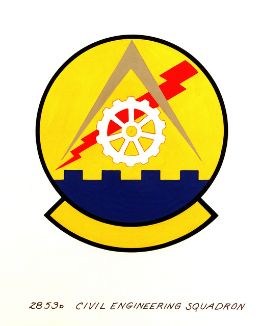 Official emblem for the 2853rd Civil Engineering Squadron