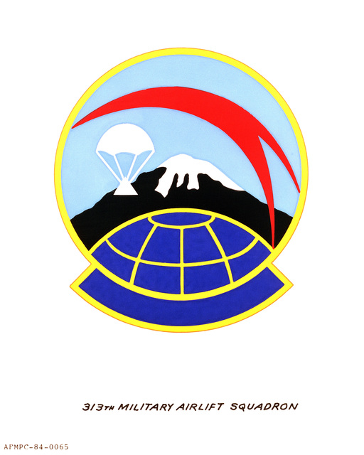 Official emblem for the 313th Military Airlift Squadron
