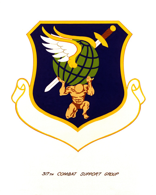Official emblem for the 317th Combat Support Group