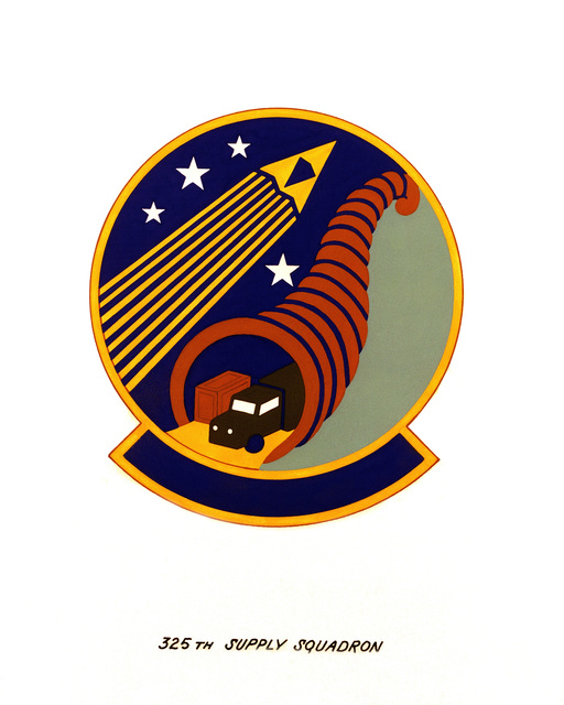 Official emblem for the 325th Supply Squadron