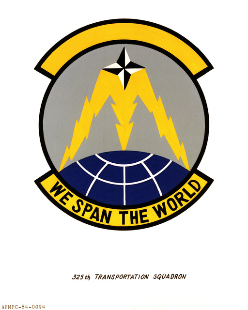 Official emblem for the 325th Transportation Squadron