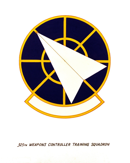 Official emblem for the 325th Weapons Control Training Squadron
