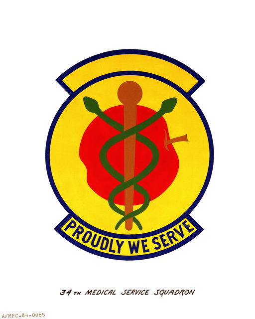 Official emblem for the 34th Medical Services Squadron