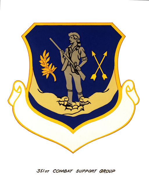 Official emblem for the 351st Combat Support Group