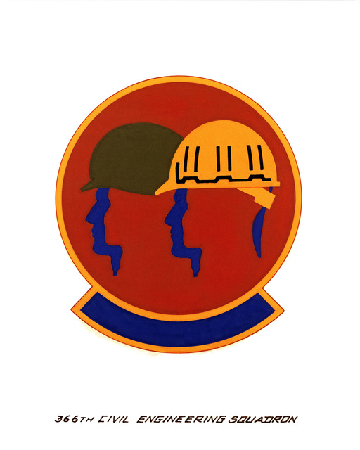 Official emblem for the 366th Civil Engineering Squadron
