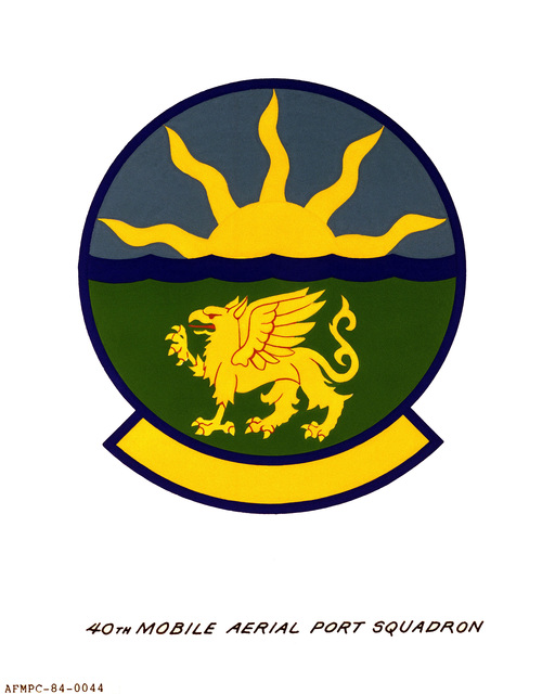 Official emblem for the 40th Mobile Aerial Port Squadron