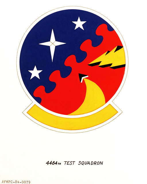 Official emblem for the 4484th Test Squadron