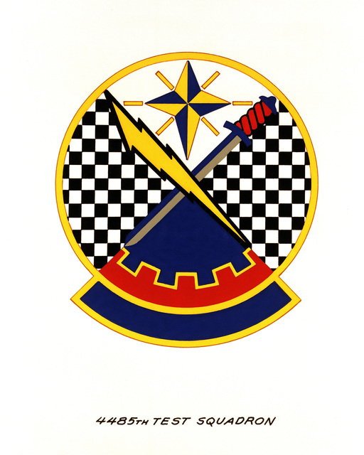 Official emblem for the 4485th Test Squadron