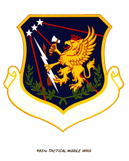 Official emblem for the 485th Tactical Missile Wing