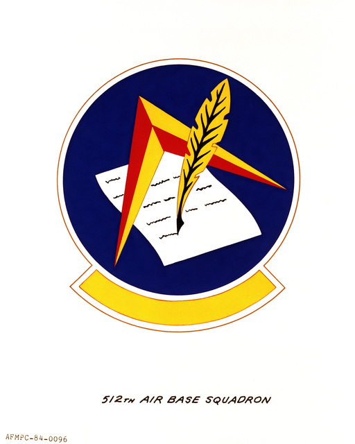 Official emblem for the 512th Air Base Squadron