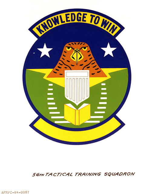 Official emblem for the 56th Tactical Training Squadron