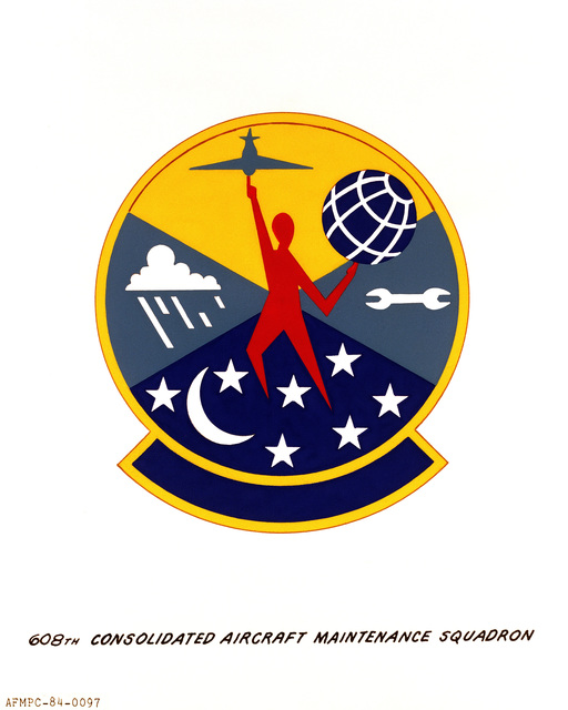Official emblem for the 608th Consolidated Aircraft Maintenance Squadron