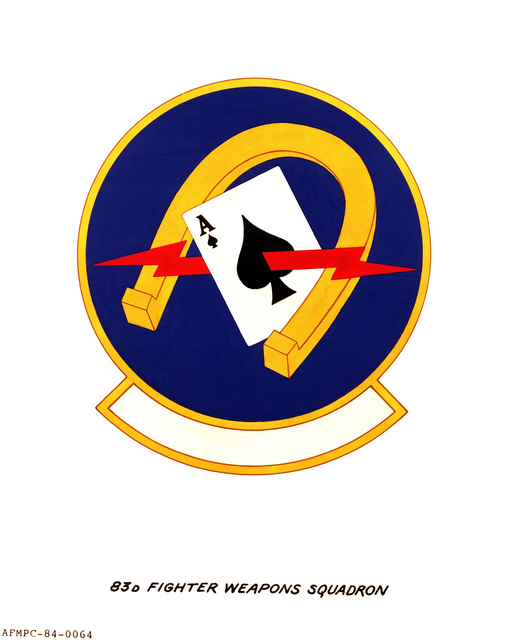 Official emblem for the 83rd Fighter Weapons Squadron