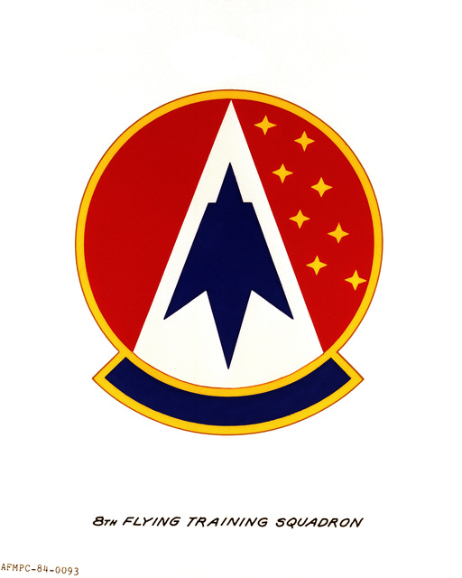Official emblem for the 8th Flying Training Squadron