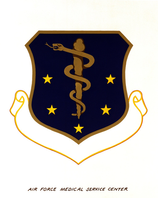 Official emblem for the Air Force Medical Service Center