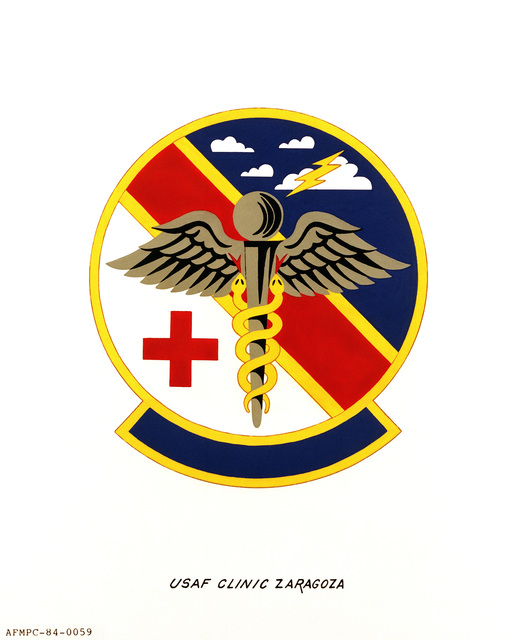 Official emblem for the USAF Clinic Zaragoza