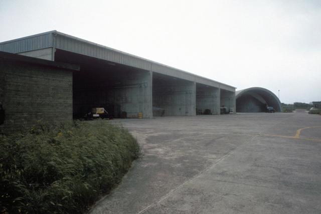 The flight line storage area