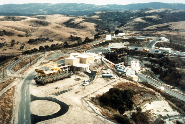 An aerial view of the Capistrano Test Site at the San Juan Capistrano Facility near Camp Pendleton, California. The test site was used during High Energy Laser (HEL) development by the Unified Navy Field Test Program