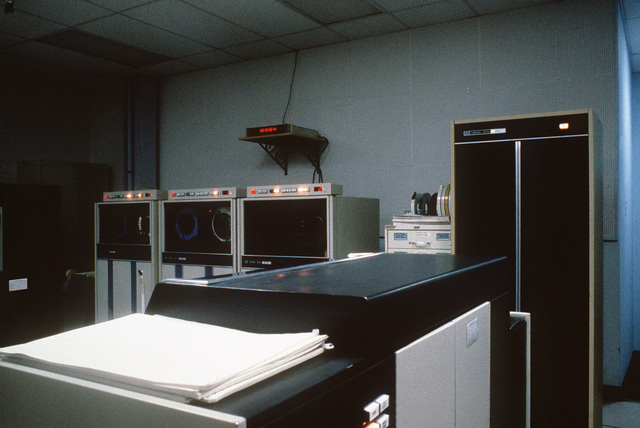 The computer room for the Cobra Dane radar system operated by the 16th Surveillance Squadron
