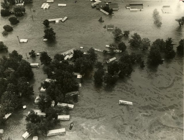Trailer Camp in Naugatuck, Connecticut, during a Flood