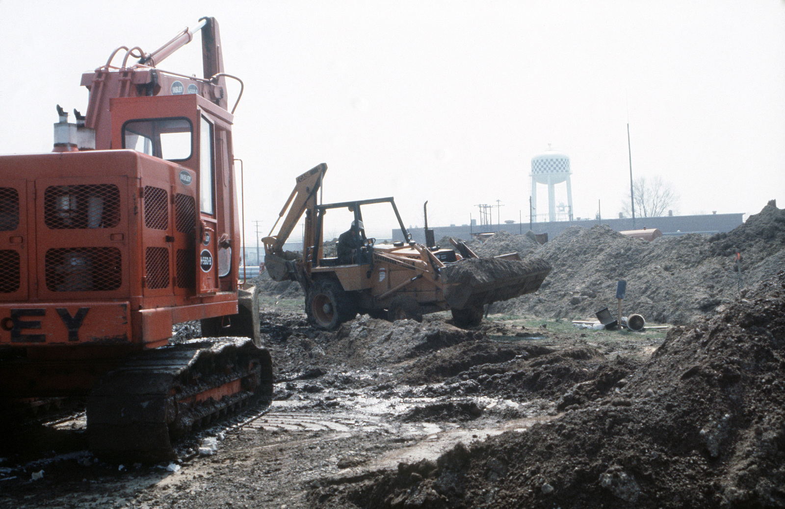 Construction equipment is used to clear the site for the new personnel center