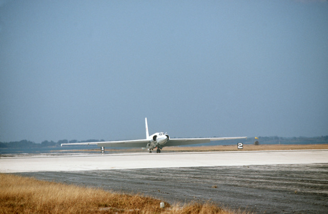A NASA Earth Resources Survey aircraft, U-2, takes off on a photographic assignment across Florida to help combat the state's diseased citrus problem.  This is a joint effort between the United States Department of Agriculture (USDA), the Animal and Plant Health Inspection Service (APHIS), and the National Aeronautics and Space Administration
