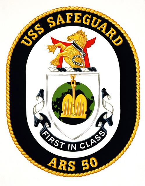 Coat of Arms for the USS SAFEGUARD (ARS 50)