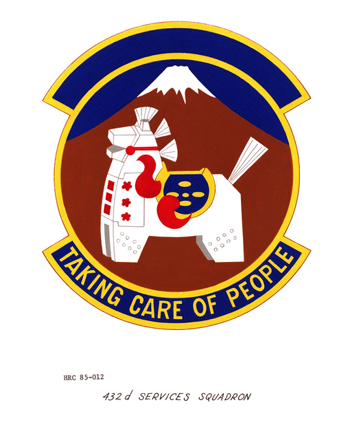 Approved unit emblem for: 432nd Services Squadron